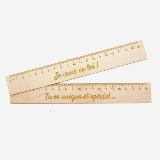 Règle d'encouragement en bois personnalisée