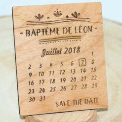 Save the date en bois massif pour annoncer votre mariage, baptême, anniversaire,...
