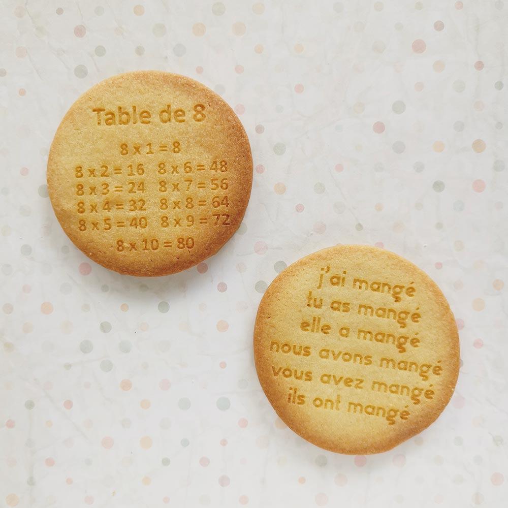 Biscuits personnalisés pour le goûter d'école - apprendre en s'amusant