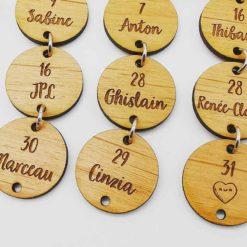 Calendrier perpétuel des anniversaires en bois