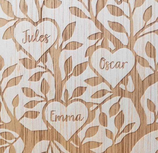 Arbre de famille personnalisé en bois